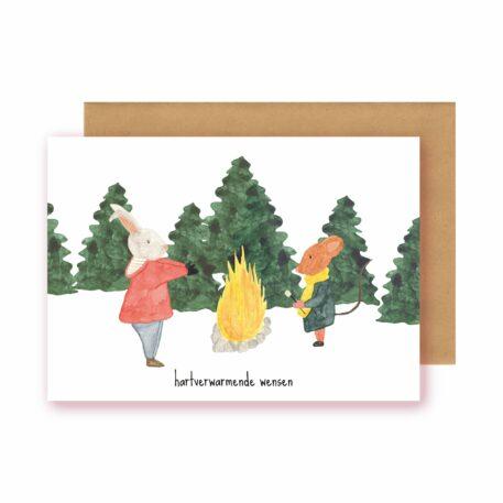 Studio Bertha Postkaart Hartverwarmende wensen