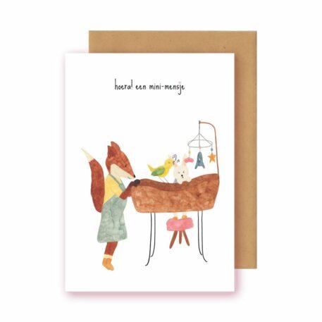 Studio Bertha Postkaart Mini Mensje