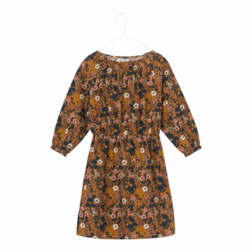 A MONDAY in Copenhagen Diviana Dress Tomato Cream Print