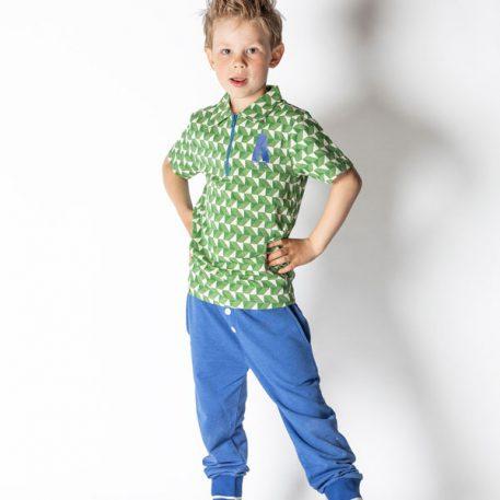 Albakid Albert Shirt Juniper Crazy with Triangles