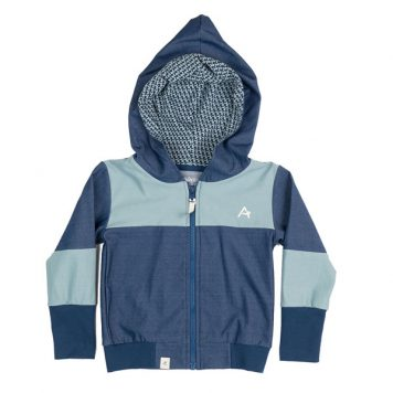 Albakid Aslan Zipper Hood Estate Blue