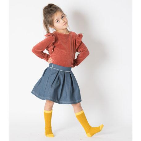 Albakid Bea Knee Socks Nugget Gold