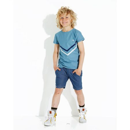 Albakid Bertram T-shirt Bluestone