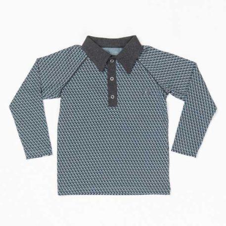 Albakid Billy Shirt Blue Mirage Cubes