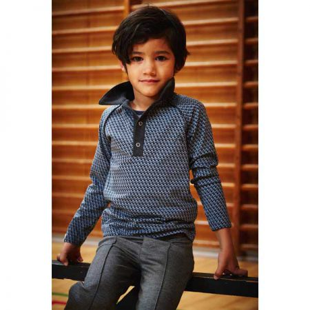 Albakid Billy Shirt Blue Mirage Cubes