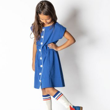 Albakid Felicia Dress Solidate Blue
