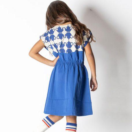 Albakid Felicia Dress Solidate Blue