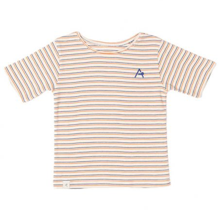 Albakid Gate T-shirt Rust Striped