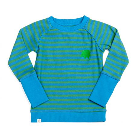 Albakid Hendric Blouse Medium Green Love Stripes