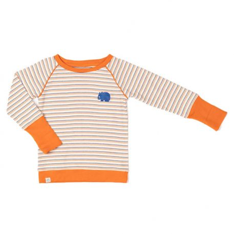 Albakid Hendrik Blouse Rust Striped