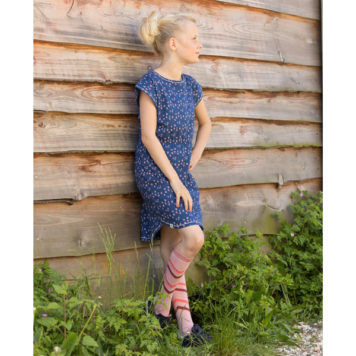 Albakid Rachel Dress Estate Blue Wild Flower