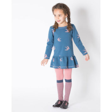 Albakid Skylar Dress Dark Denim Bird