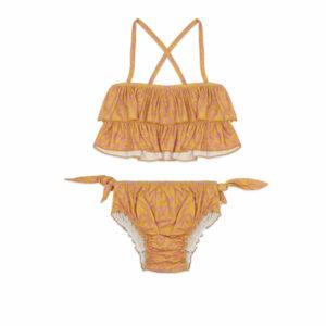 Ammehoela Bikini Ruby Heart Nugget Gold