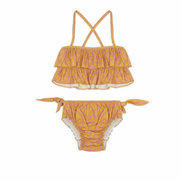 Ammehoela Bikini Ruby Heart Nugget Gold
