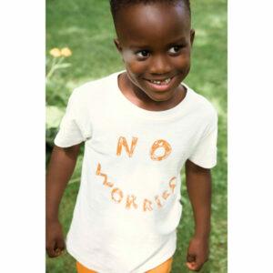 Ammehoela T-shirt Zoe Ivory No Worries