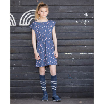 Atracktion Ditte Dress Vintage Indigo Dots