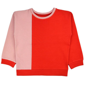 Ba*Ba Girls Sweater Pink Red Dots
