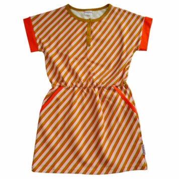 Ba*Ba Imke Dress Diagonal Pink
