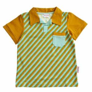 Ba*Ba Polo Shirt Diagonal Blue