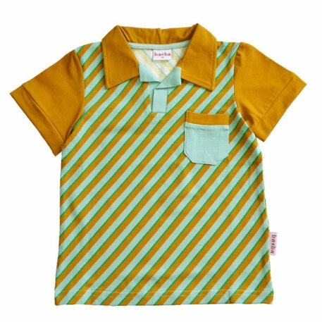 Ba*Ba Polo Shirt Diagonal Blue