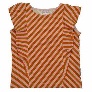 Ba*Ba Ruffle Shirt Diagonal Pink