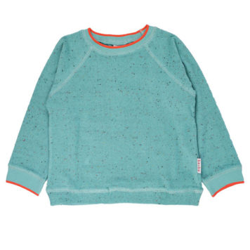 Ba*Ba Sweater Speckled Terry Aqua