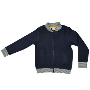 Baba Babywear Bomber Jacket Denim Blue