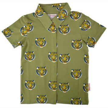 Baba Babywear Boys Shirt Short Sleeves Tiger
