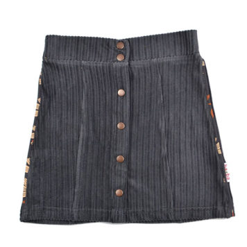 Baba Babywear Button Skirt Corduroy Dark Grey