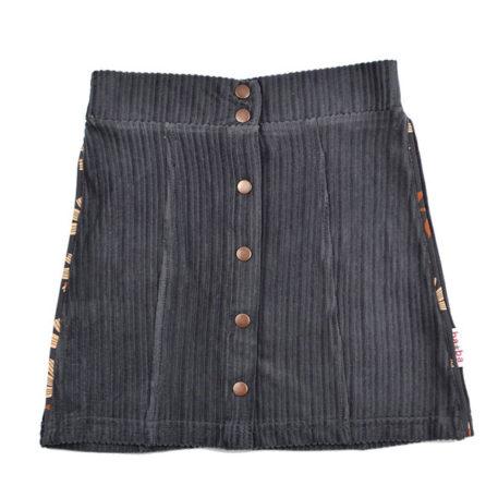 Baba Babywear Button Skirt Corduroy Dark Grey