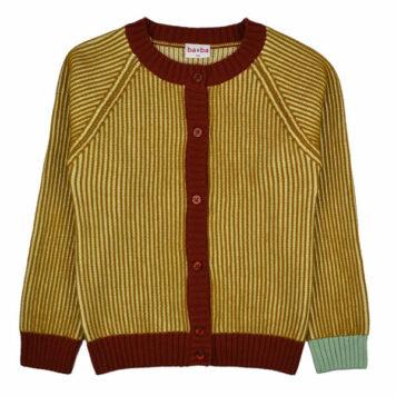 Baba Babywear Cardigan Ali Mustard Stripes
