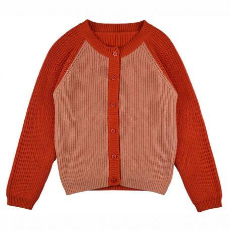 Baba Babywear Cardigan Bicolor Red Pink