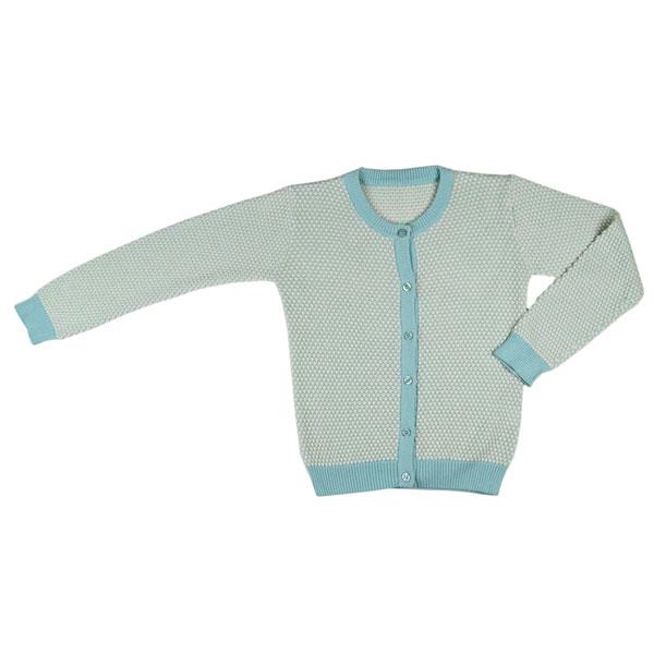 Baba Babywear Cardigan Girl Bicolor Jade