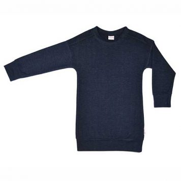Baba Babywear Dress Long Sleeve Denim Blue
