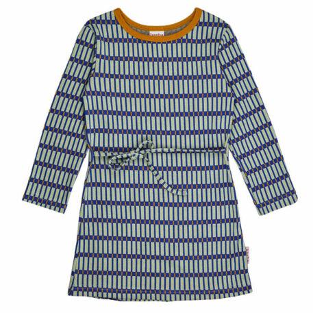 Baba Babywear Dress Long Sleeves Jacquard Raster