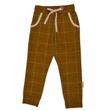 Baba Babywear Girls Pant Checked Mustard