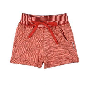 Baba Babywear Girls Short Jacquard Red