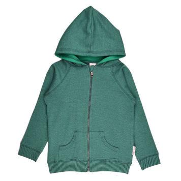 Baba Babywear Hoodie Pique Bicolor Green