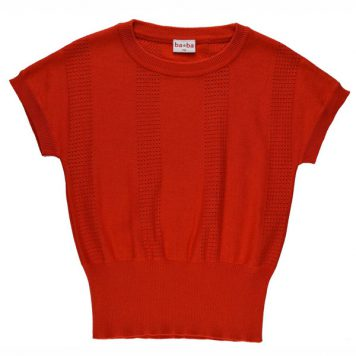 Baba Babywear Knitted Shirt Red