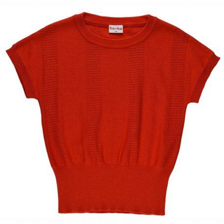 Baba Babywear Knitted Shirt Red