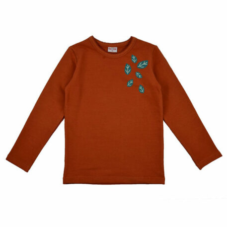 Baba Babywear Longsleeve Girls Leaves Autumnal