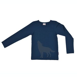 Baba Babywear Longsleeve Howling Wolf Dark Blue