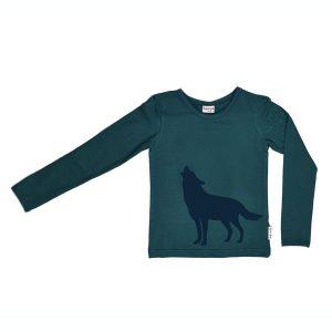Baba Babywear Longsleeve Howling Wolf Dark Green