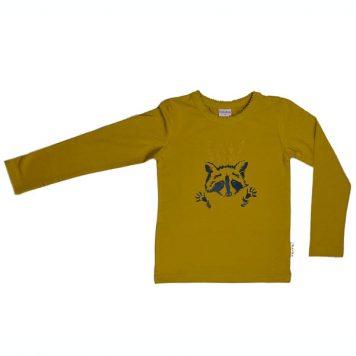 Baba Babywear Longsleeve Racoon Yellow