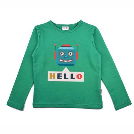 Baba Babywear Longsleeve Robot Green