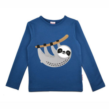 Baba Babywear Longsleeve Sloth Blue
