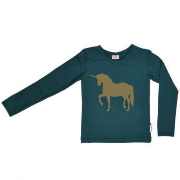 Baba Babywear Longsleeve Unicorn Dark Green