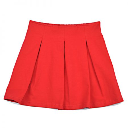 Baba Babywear Pleat Skirt Red