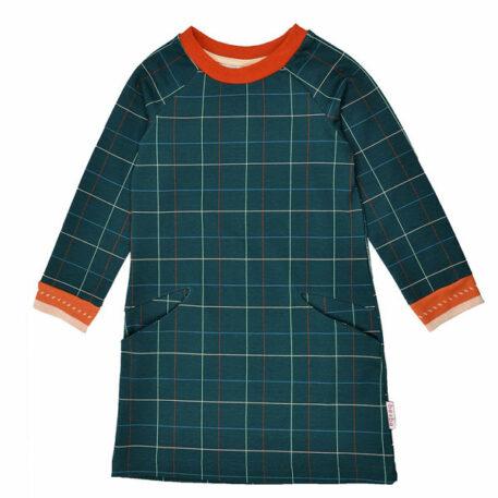 Baba Babywear Pocket Dress Checked Blue