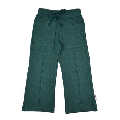 Baba Babywear Pocket Pants Pique Bicolor Green